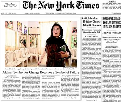 the new york times front page. NEW YORK TIMES